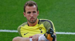 Spurs striker Harry Kane in training yesterday. Pic: Reuters
