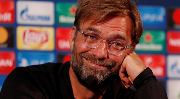 Liverpool manager Jurgen Klopp is pictured in a press conference ahead of tonight's clash with NK Maribor. Pic: Reuters
