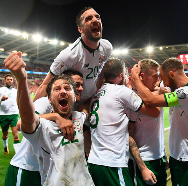 Shane Duffy insists his Ireland team-mates are a match for any team ahead of today's World Cup qualifying play-off draw. Pic: Sportsfile