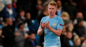 De Bruyne has been in sparkling form for Manchester City this season, helping them rack up 17 goals in their last three home Premier League games. Pic: Reuters