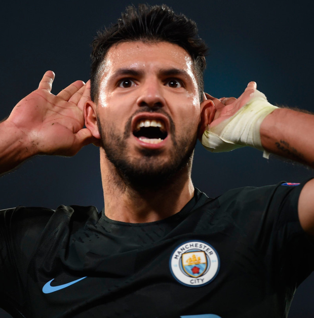 Man City's Aguero good to go after dizzy spell
