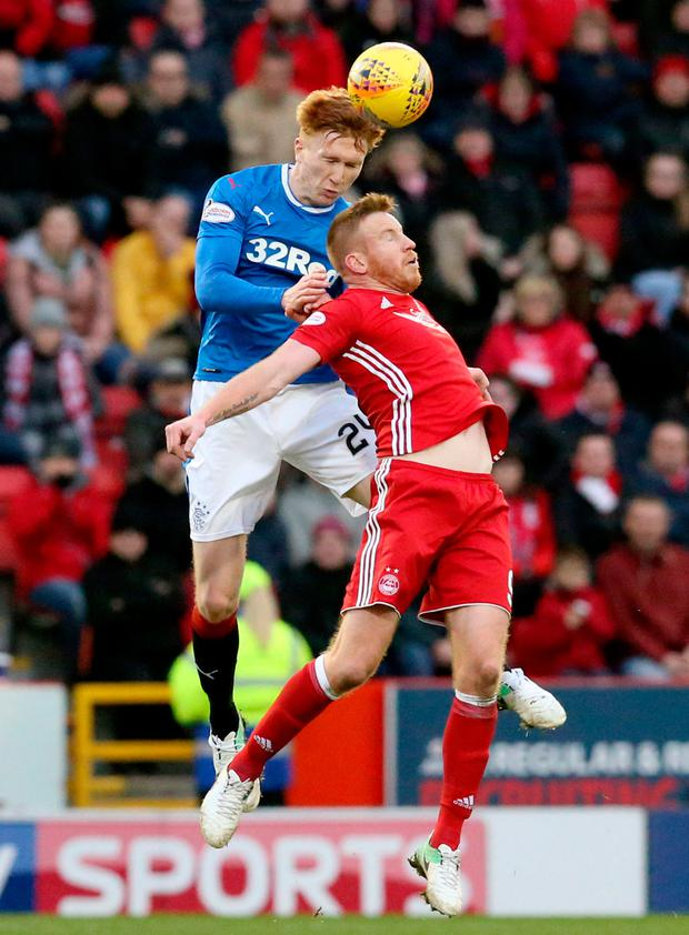 Adam Rooney (right)