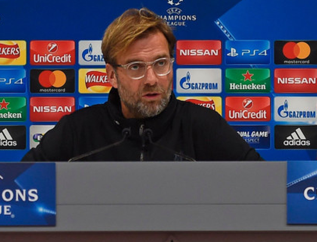 Liverpool's manager Jurgen Klopp speaks at a press conference ahead of tonight's Champions League clash with Spartak Moscow