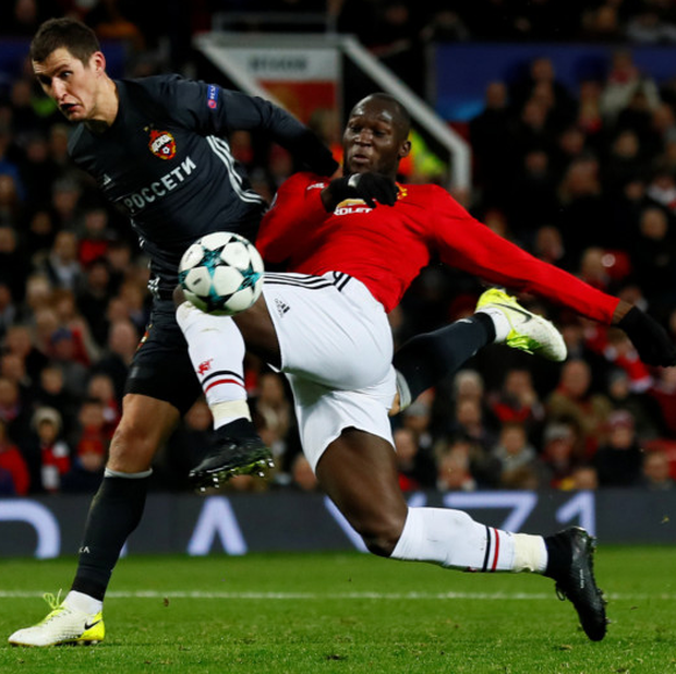 Romelu Lukaku fires home Manchester United's equaliser in last night's Champions League Group H clash with CSKA Moscow at Old Trafford