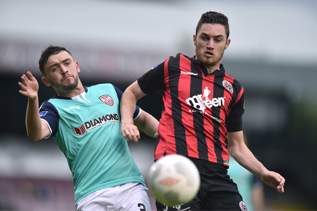 Eoin Wearen, pictured in action for Bohemians against Derry City back in July 2016.