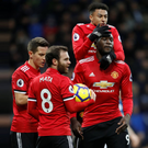 Romelu Lukaku fails to celebrate after opening the scoring for Manchester United at West Brom yesterday
