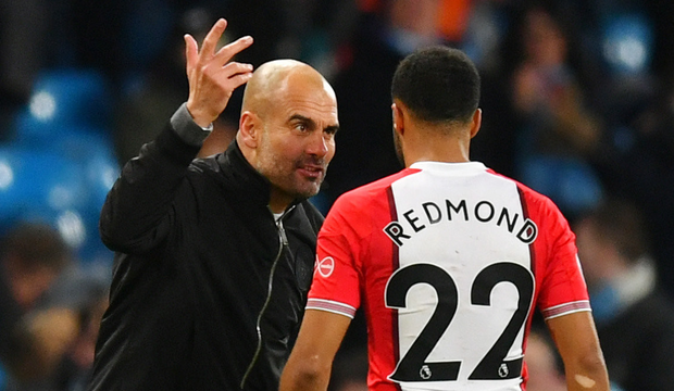 Guardiola likes a bit of after-match 'banter' himself after his barracking of Southampton's Nathan Redmond following a late win recently. Photo: Getty Images
