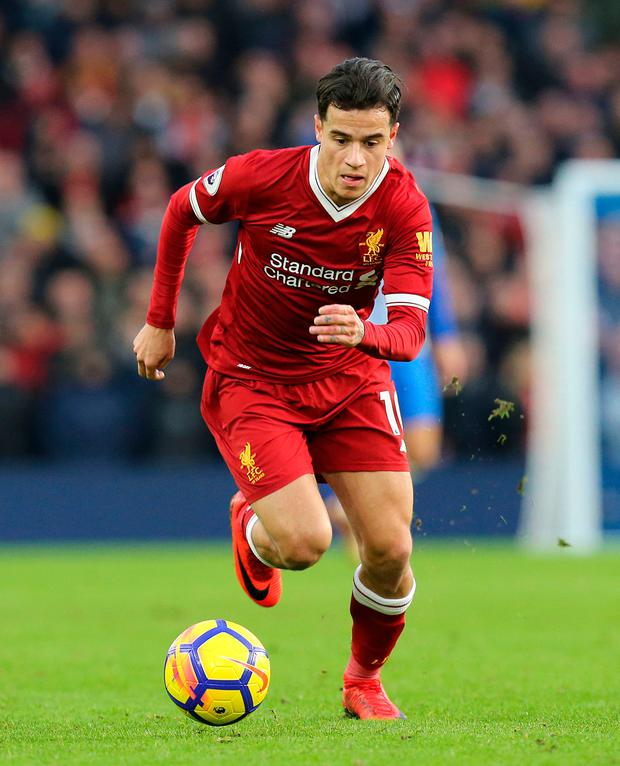 Liverpool playmaker Philippe Coutinho. Photo: PA Wire