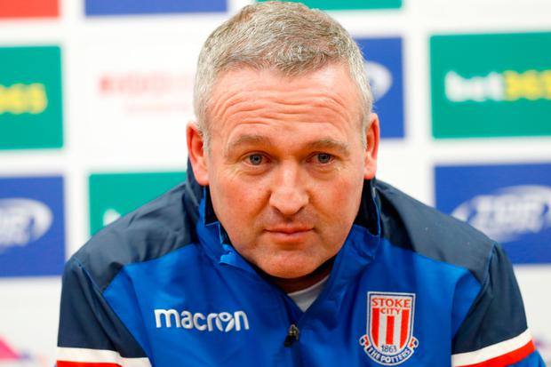 New Stoke boss Lambert hails players and fans after winning start