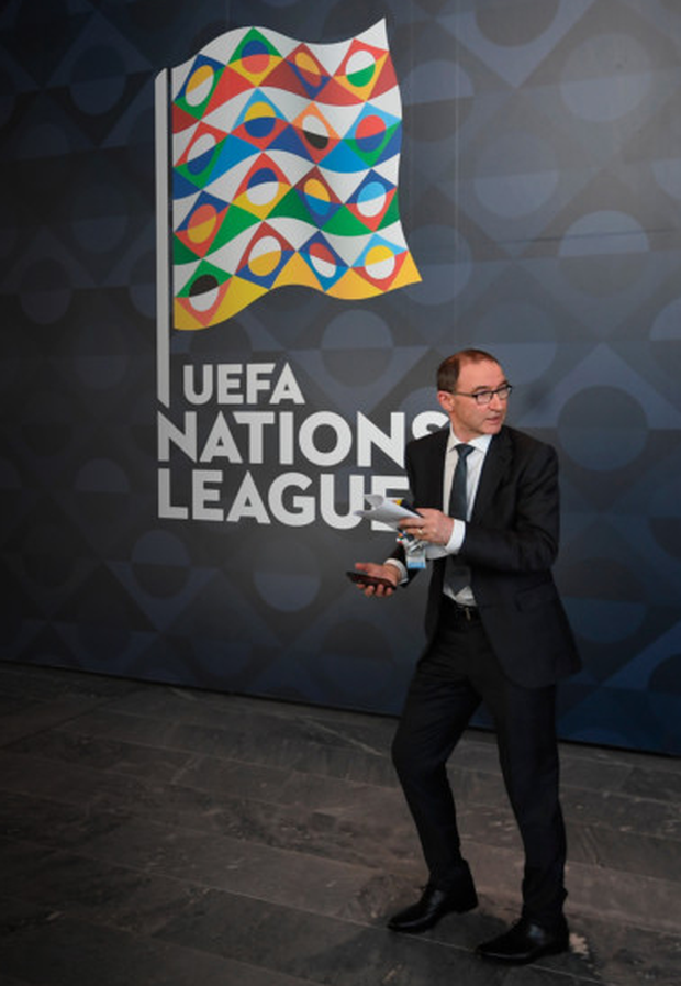 Ireland manager Martin O'Neill is pictured in Lausanne, Switzerland at the UEFA Nations League draw