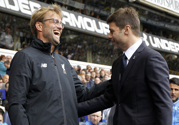 Liverpool manager Jurgen Klopp and Spurs boss Mauricio Pochettino renew rivalries in Premier League action at Anfield tomorrow