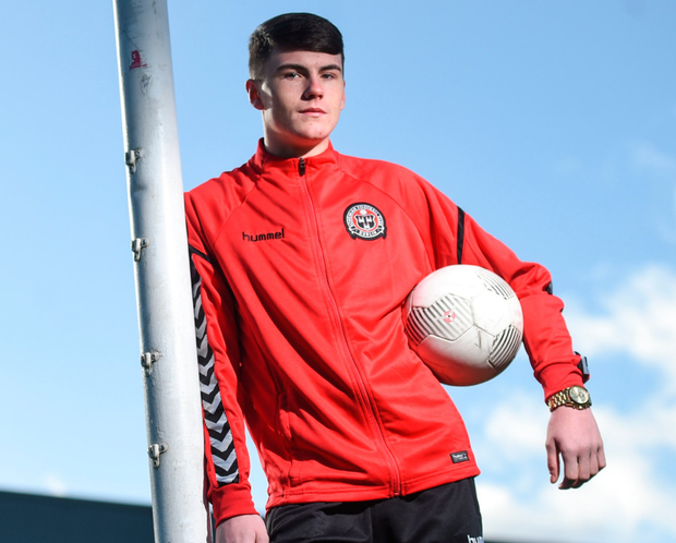 Bohemians' Ryan Grayden in attendance at the Bohemian FC/St Kevin's Boys partnership launch at Dalymount Park in Dublin yesterday