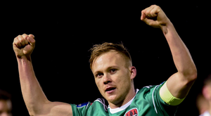 Up and running: Cork's Conor McCormack celebrates