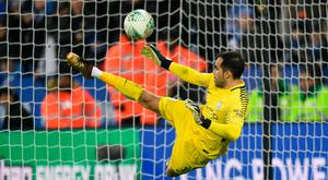 UP FOR THE CUP: Claudio Bravo is set to start in goal for Manchester City at Wigan tonight