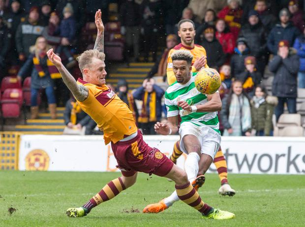 Motherwell manager Stephen Robinson in a rage over Cedric Kipre's card