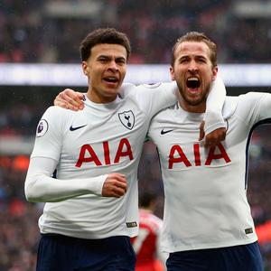 Harry Kane and Dele Alli. Photo: PA Wire