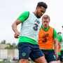 Possession: Cyrus Christie in action against Daryl Horgan in Antalya yesterday