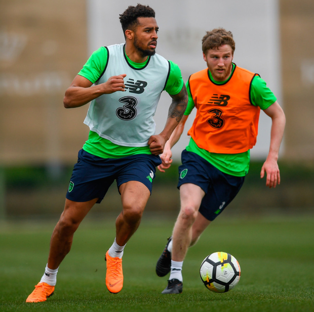 Not fazed: Cyrus Christie in Ireland training this week