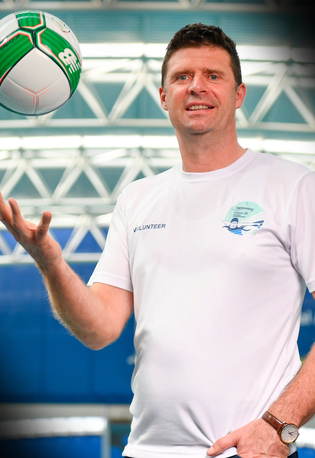 Launch: Niall Quinn is pictured after being announced as an ambassador for the 2018 Para Swimming Allianz European Championships at the NAC, Blanchardstown