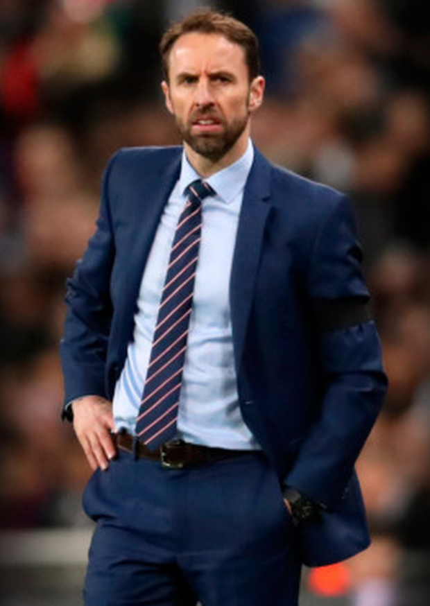 ASSERTING HIS AUTHORITY: England manager Gareth Southgate