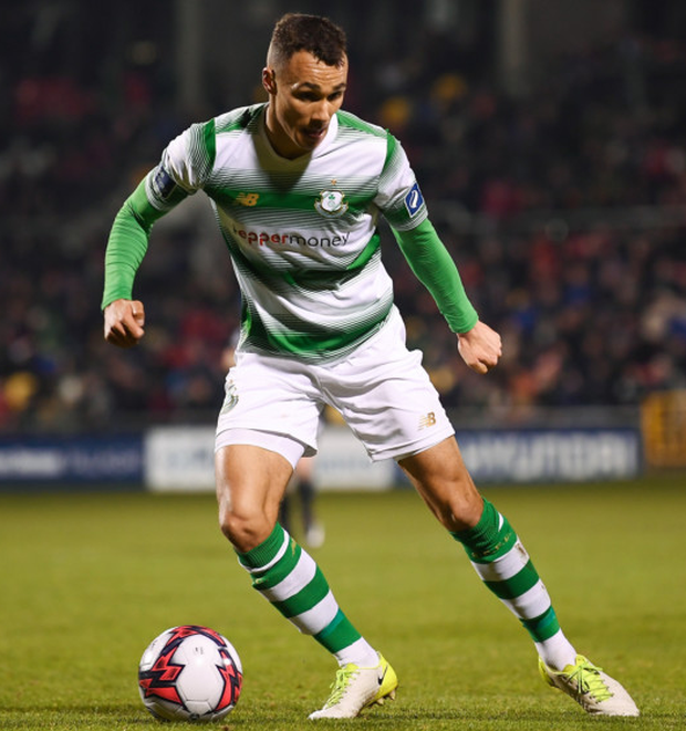 Super hoop: Shamrock Rovers striker Graham Burke has been rewarded for his fine form with the SSE Airtricity Soccer Writers' Association of Ireland Player of the Month for March