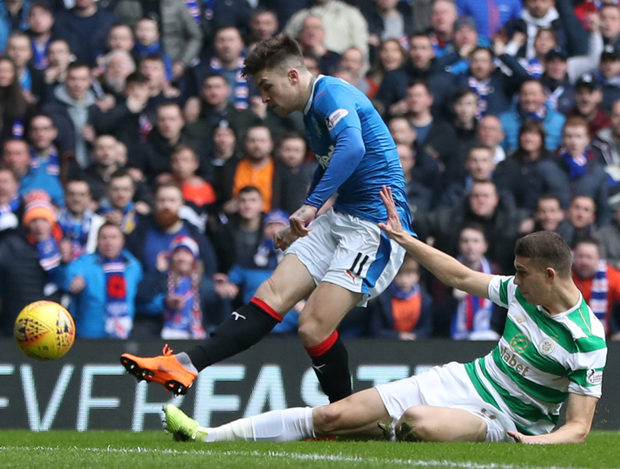 Firm clash: Action from last month's Old Firm clash between Celtic and Rangers