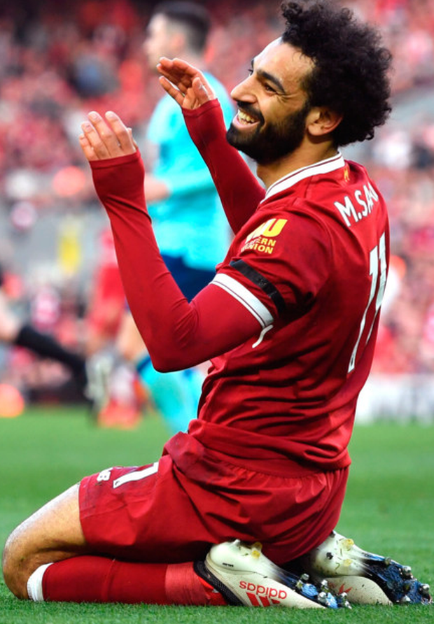 AMBITION: Liverpool striker Mohamed Salah is aiming to break Ian Rush's Reds record of 47 goals in a single season Photo: PA