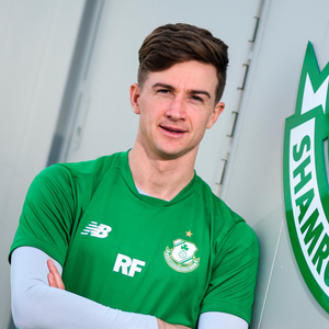 Ro's call: Ronan Finn is pictured at the Shamrock Rovers media conference at Roadstone Social Club in Kingswood, Co Dublin ahead of tonight's clash with Limerick