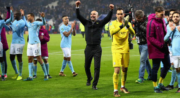 City wonderland: Manchester City manager Pep Guardiola is in celebratory mode after winning the Premier League title last week