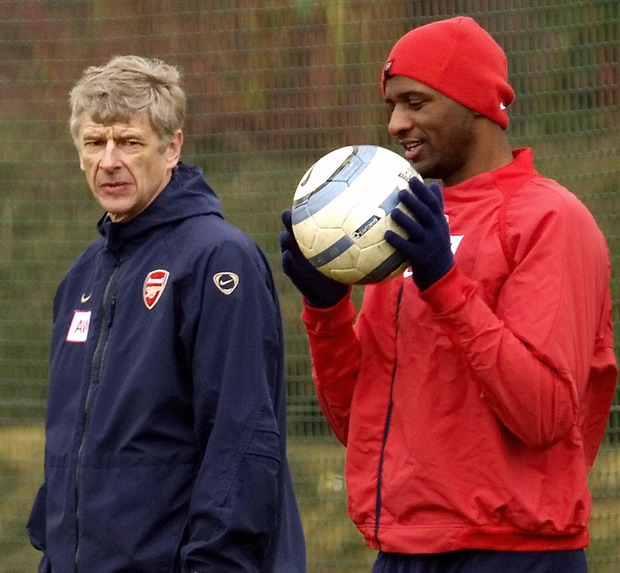 Arsene Wenger and Patrick Vieira