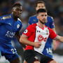 Blank: Shane Long (r) in action against Wilfred Ndidi
