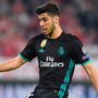 Real joy: Marco Asensio scores Real's winner against Bayern Munich last night
