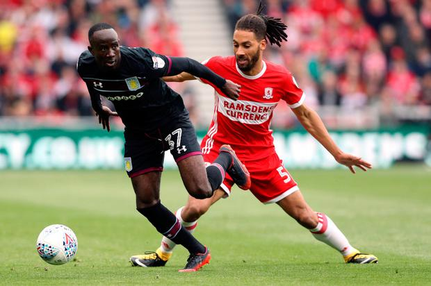 Adomah believes Aston Villa will return to the Premier League. Pic: PA