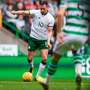 Alan Browne shoots to score Ireland's opening goal during Scott Brown's testimonial match at Celtic Park yesterday