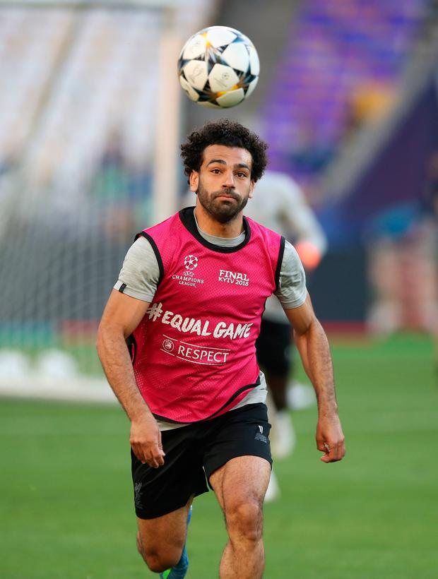 ORBIT: Mohamed Salah. Pic: PA