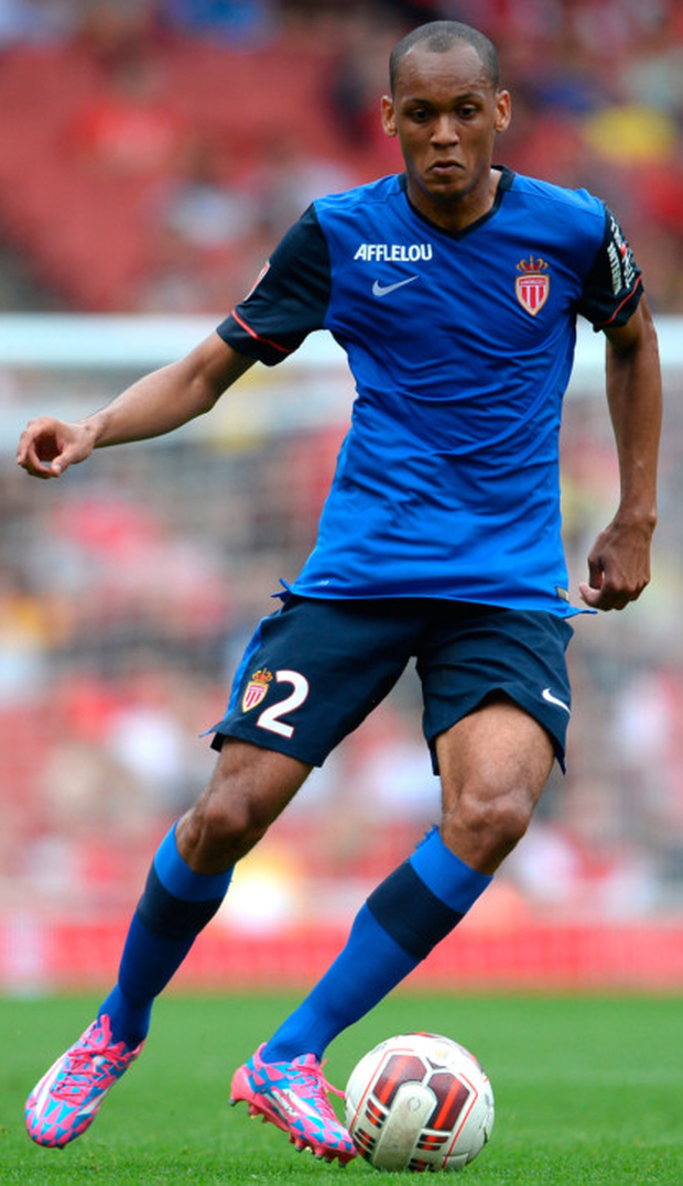 Fab' move: Fabinho in action for Monaco