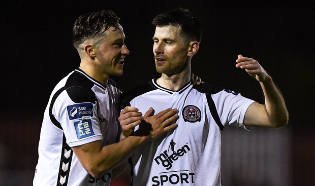 ROAD TRIP: (l-r) Bohemians' Rob Cornwall and Dinny Corcoran. Photo: SPORTSFILE