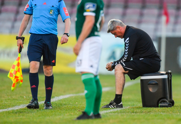A frustrated Bohs boss Keith Long. Pic: Sportsfile