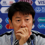 Relaxed view: South Korean manager Shin Tae-yong