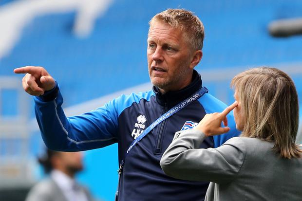Iceland coach Heimir Hallgrimsson. Photo: REUTERS