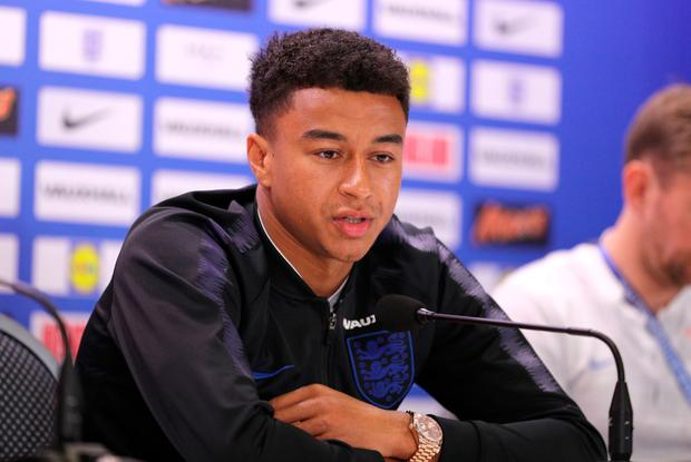FOCUSED: England forward Jesse Lingard. Pic: PA