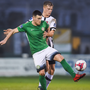 UNFAIR: Aaron Greene in action for Bray Wanderers against Daniel Cleary of Dundalk back in April