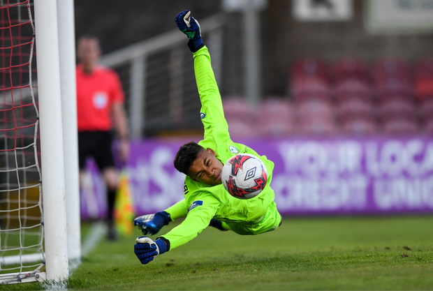 RISING STAR: Shamrock Rovers' teenage goalkeeper Gavin Bazunu. Photo: SPORTSFILE