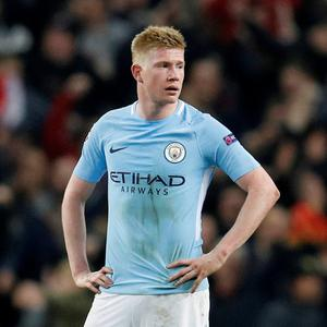 De Bruyne, City's player of the year last season, is facing three months on the sidelines. Pic: Reuters