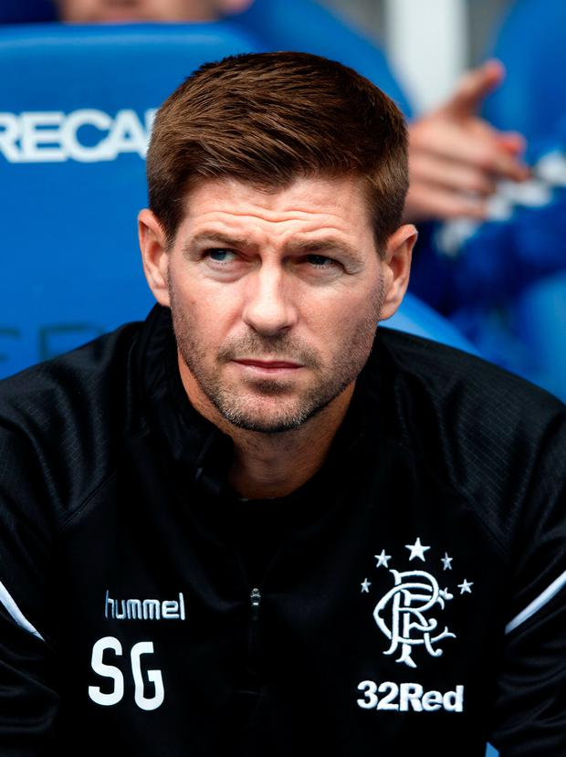 DONE DEAL: Steven Gerrard has signed Kyle Lafferty. Pic: PA