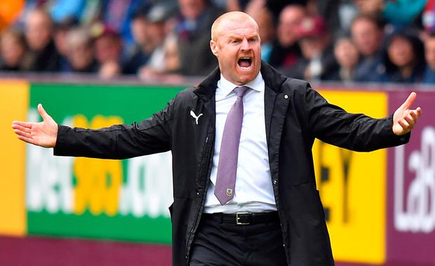 FEVER PITCH: Burnley boss Sean Dyche. Pic: PA