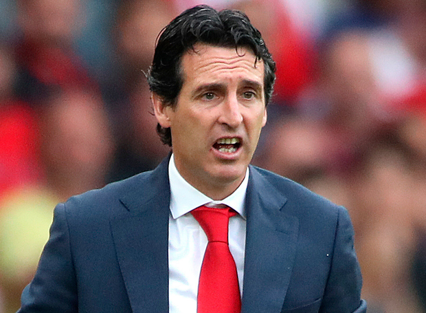 Arsenal head coach Unai Emery
