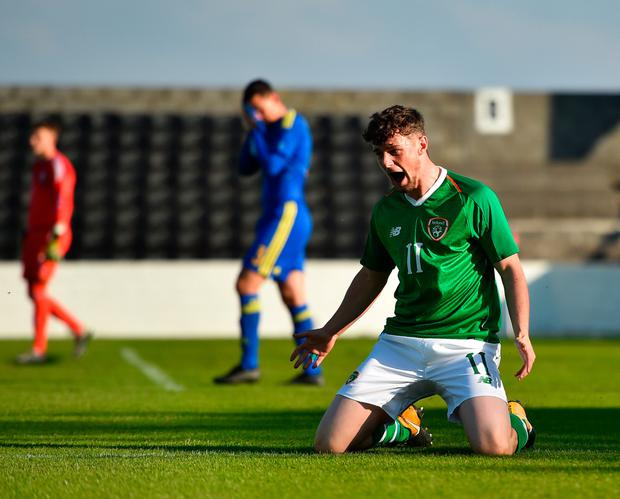 GOAL: Will Ferry celebrates. Pic: Sportsfile