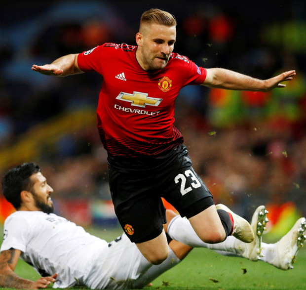 Man United's Luke Shaw