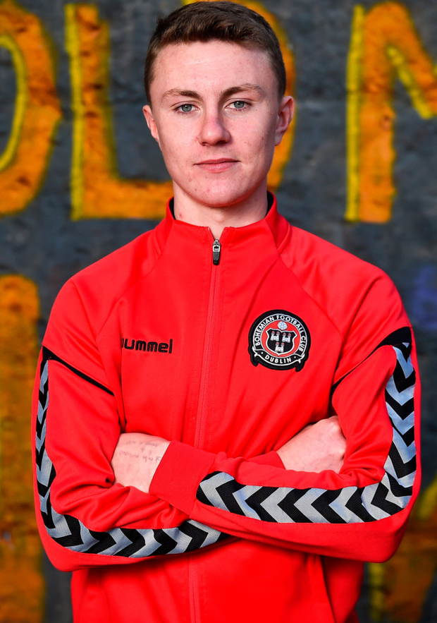 Euro mission: Bohemians' Under-19 striker Stephen Nolan, pictured ahead of tomorrow's UEFA Youth League clash with Danish side Midtjylland